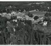 Flygfoto över Orrefors.