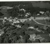 Flygfoto över Hjorteds kyrka.