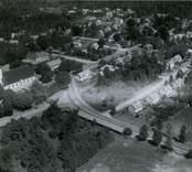 Flygfoto över Madesjö kyrka.