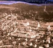 Flygfoto över Västervik 1950.