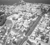 Flygfoto över Västervik 1969.