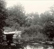 Foto:Osmin Jennes Mor Bloms stuga. 1920-talet.