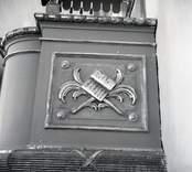 Detalj av predikstolen i Odensvi kyrka.