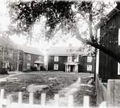 Torget i Kristdala, samlingsplats för rådslag.  Foto Nordiska museet 1918