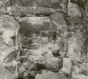 Nisch i sakristians sydvägg.
