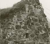 Västgaveln på Ukna kyrkoruin efter 1977 års restaurering.