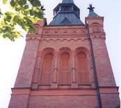 Kyrktornet på Gladhammar kyrka.