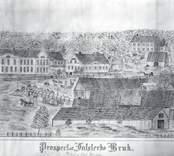 Teckning som visar en vy av Falsterbo bruk.