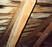 Innertaket på Hjorteds kyrka.