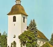 Vykort med motiv från Hjorteds kyrka.