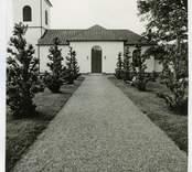 Hälleberga kyrka innan renoveringen 1976.