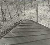 Taket på Forsby herrgård.