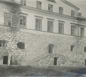 Dubbeltrappan som leder in till Vinäs herrgård.