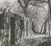 Ruinerna av köket på Vinäs herrgård.