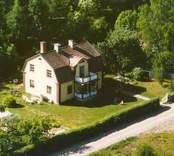 Flygfoto på ett enfamiljshus i Sandslätt.