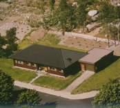 Ett bostadshus med garage i Kristvalla socken.