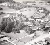 Flygfoto över Hallingeberg.