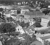 Nybro. Vy mot Långgatan omkring 1935.