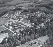 Flygfoto över Edsbruk.  Foto: AB Flygtrafik