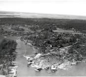 Flygfoto över Östra Eknö med Sjöbodar 1935.