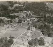 Flygfoto över Jungnerverken i Oskarshamn.