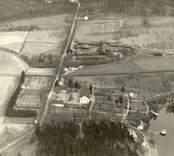 Flygfoto över Odensviholms säteri.