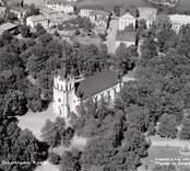Vy över kyrkan i Oskarshamn                             .