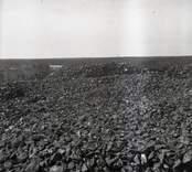 Slagghög vid Gladhammars koppargruvor 1954.