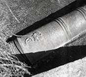 Kanon vid herrgården i Ankarsrum.
