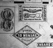 Tändsticksfabriker, etiketter till tändsticksaskar.