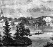 Träsnitt, 1860-tal. Bethanien institutet för dövstumma.