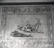 Väggmålning i salen på Fredriksbergs herrgård.