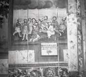 Väggmålningar i Hjorteds kyrka.