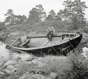 Storbåten Teresia av Tallholmen, ägare Gerhard Andersson. Foto: 15/08 1951.