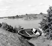 Marknadsbåten Helena. Foto: 17/08 1951.