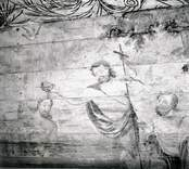 Kapellet. Väggmålning. Jesus döpes.