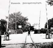 Järnvägsövergång i Västervik.