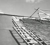Oskars kyrka takomläggningen 1979.