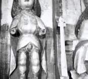 Altarskåpet, figur efter konservering.