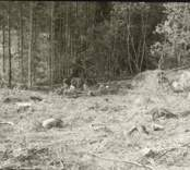 Arkeologisk undersökning  Boplats C:1 under utgrävning. Från nordväst.