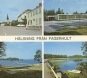 Ett vykort med motiv från Fagerhult.