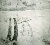 Målning i koret i Gärdslösa kyrka.