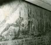 Målning  i koret med bibliskt motiv.
