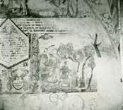 Målning på norra korväggen.