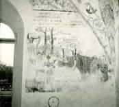 Målning på södra korväggen i Gärdslösa kyrka.