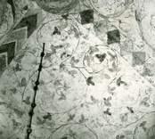 Målning i korvalvet på Gärdslösa kyrka.