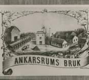 Ankarsrums bruk. Masugnen efter tryck på katalog från 1800-talets början.