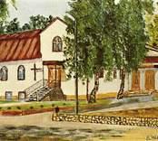 Målning föreställande Betelkapellet i Kristdala.