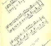 Notblad av Carl Albin Stjerna, Nybro den 10/8 1896, i Lilly Sahlbergs minnesalbum.