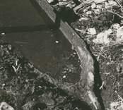 Stockbåt, funnen i Rismåla göl sommaren 1959.  Stil-foto, Nybro Gösta Sörensen.
